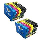 EBY Druckerpatronen kompatibel für Epson T1281 T1282 T1283 T1284 für Epson Stylus S22 SX125 SX130 SX230 SX235W SX420W SX425W SX430W SX435W SX438W SX440W SX445W BX305F BX305FW