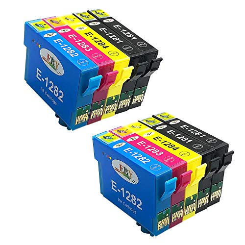 EBY Kompatibler Druckerpatronen Epson T1281 T1282 T1283 T1284 T1285 für Epson Stylus S22 SX125 SX130 SX230 SX235W SX420W SX425W SX430W SX435W SX440W SX445W BX305F BX305FW