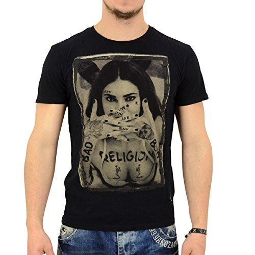 Religion T-Shirt Männer Bad Boys schwarz - fällt normal aus, figurbetont Schwarz