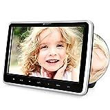 Pumpkin Lecteur DVD Voiture pour Enfant 10,1 Pouce Ecran d'appui tête Slot in Design avec Câble AUX Supporte Région Libre AV in AV Out USB SD