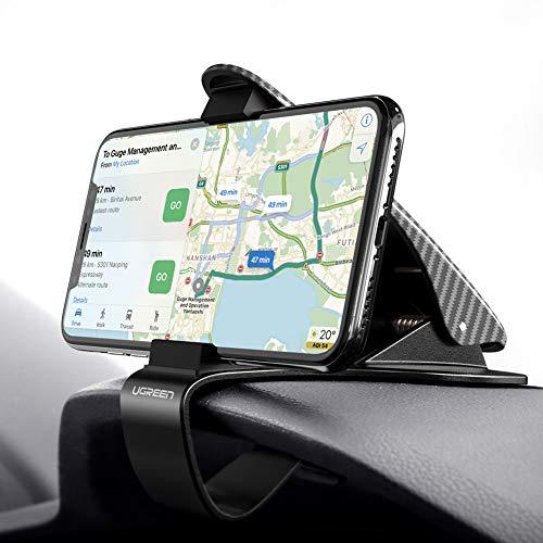 UGREEN Supporto Smartphone per Auto su Cruscotto Universale Porta Cellulare per Dispositivi 3,5''-6,5'' Come GPS, Tomtom, iPhone XS X 8, Samsung S9 S8, Huawei P20 Lite, Xiaomi Mi A2 Lite, LG V30 ECC.