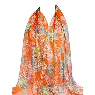 Orange Multi Colour Altai Design Voile Scarf Shawl Wrap Pashmina CJ Apparel NEW