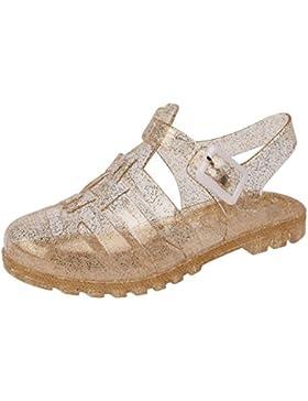Zapatos de la jalea del brillo de las muchachas