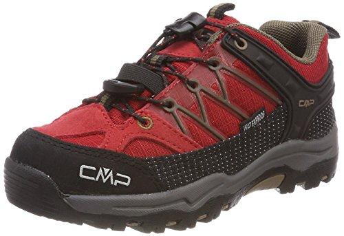 CMP Unisex-Kinder Rigel Trekking-& Wanderhalbschuhe, Rot (Ferrari-Tortora), 30 EU
