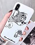 Art-design Coque iPhone XS Max Tom et Jerry Chat et Souris Cat and Mouse Disney Silicone Souple