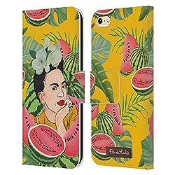 Head Case Designs Offizielle Frida Kahlo Wassermelone Portrait 3 Leder Brieftaschen Huelle kompatibel mit iPhone 6 / iPhone 6s