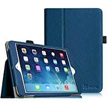 Fintie iPad mini 1 / 2 / 3 Funda - Slim Fit Folio Smart Case Funda Carcasa con Stand Función y Auto-Sueño / Estela para Apple iPad mini 1 2 3, Azul Oscuro