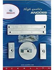 Kit anode pour Mercury 4 pcs. zinc