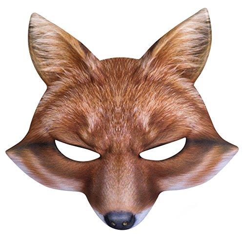 ke, Fuchs, One Size (Fuchs-maske Kostüm)