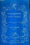CATALOGUE DE VENTES AUX ENCHERES - AUTOGRAPHES ET DOCUMENTS HISTORIQUES - CATALOGUE N°11 OCTOBRE 1982.