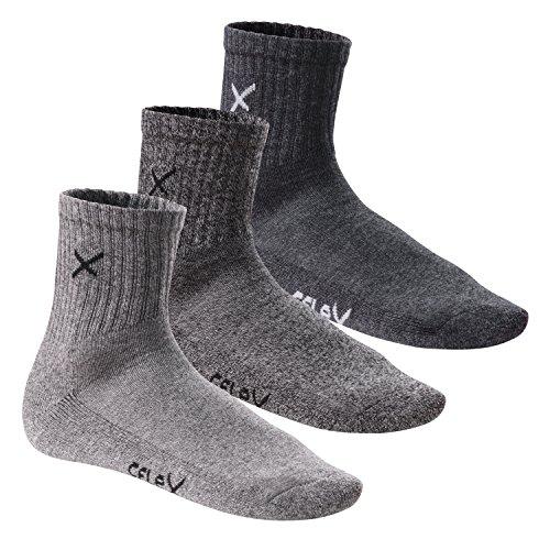 CFLEX 6 Paar LIFESTYLE Unisex Short Crew Socks Sports Mouline-39-42