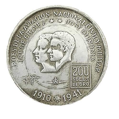 Eqerlian Silberdollarsilbermünzensammlung weißes Kupfer Silbermünze Peru 1975 Durchmesser 38MM Münze (Peru Münzen)
