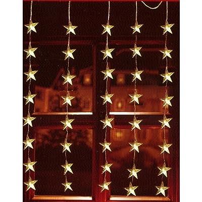 LED Lichtervorhang 40er Sterne warmweiß 1x1,2m innen / außen 06044 von Sonstige - Lampenhans.de
