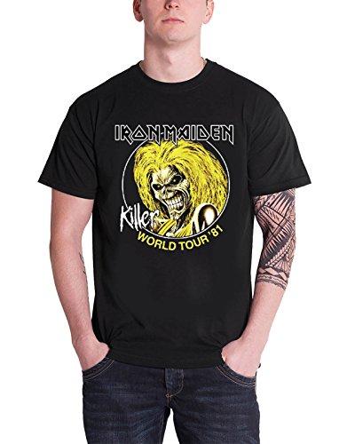 Iron Maiden Killers World Tour 81 offiziell Herren Nue Schwarz T Shirt (Killers Band-shirt)