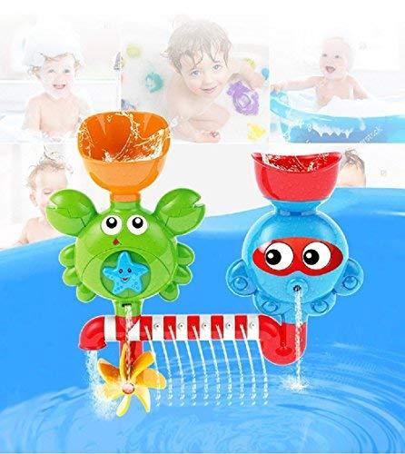 Vjoy® Baby Badespielzeug - Waterfall Water Station mit Zwei stapelbaren Cups - Denkfähigkeit und Kreativität Badewanne Spielzeug