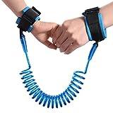 Bambino anti-perso fascia per polso, per bambini, baby di sicurezza per camminare mano cintura strap W/velcro morbida regolabile Wristband, 1.5m/4.9piedi elastico fune in acciaio, guinzaglio Link per viaggi all' aperto
