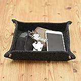 Charles Daily Taschenleerer   Vide-Poche   Ablage für Kleingeld, Schmuck, Handy & Smartphone   Schlüsselablage   Aufbewahrungsbox   Filz, grau - 4