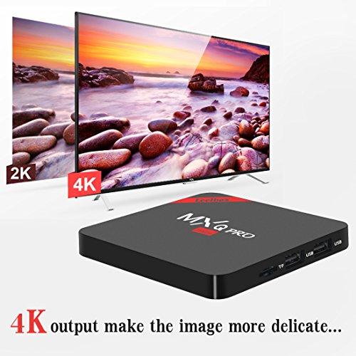 Leelbox MXQ PRO mini Android tv Box eingebaut mit NEUSTem S905x Chipsatz/Quad Core Prozesser/Kodi 16.1/Android 6.0/2.4G Wi-Fi/1GB Ram+8GB Flash unterstützt HDMI 2.0 beide 4Kx2K und 3D Effekt updaten von mxq pro Streaming-Clients - 5