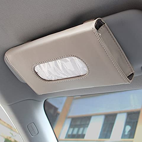 XY&GK Auto Tissue Box Truck Car Sunroof Sun Visor Hanging Paper Napkin Box White#82 WITH BEST