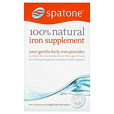 (2 Pack) - Spatone - 100% Natural Iron Supplement | 14 sachet | 2 PACK BUNDLE by SPATONE IRON PLUS