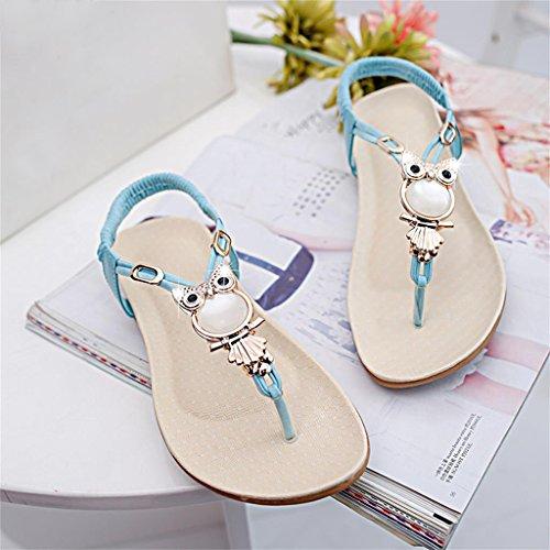 Baosity Infradito Ciabatte da Spiaggia Sandali Scarpe Pantofole per Donna Blu