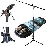 Keepdrum Mikrofonständer MS107B + Mikrofonkabel XLR/XLR 6m