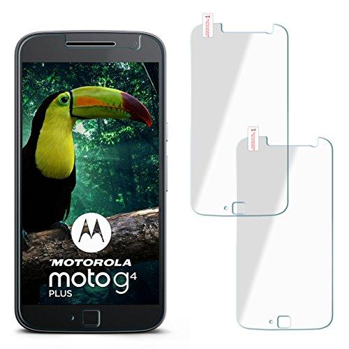2x OneFlow 9H Panzerfolie für Lenovo Moto G4 Panzerglas Display Glasfolie [Tempered Glass] Screen protector Glas Displayschutz-Folie für Motorola Moto G4/G4 Plus Schutzfolie