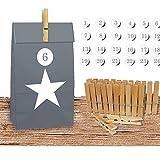 JEMIDI Adventskalender Bastelset Kalender Kette Advent Kinder Weihnachts Weihnachten (Stern)