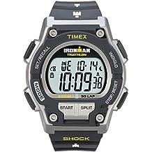 Timex T5K195SU - Reloj de cuarzo para hombres, correa de resina, color negro