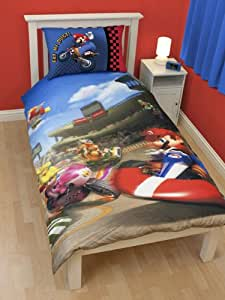 parure housse de couette linge de maison super mario bros. Black Bedroom Furniture Sets. Home Design Ideas