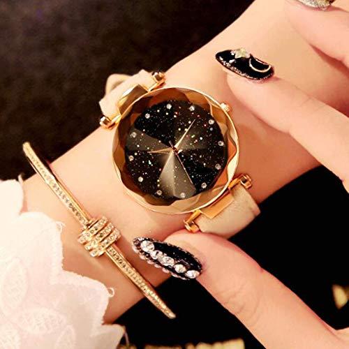 Women es Watches, Watch Girl Fashion Female Student Simple Leisure Wristwatch Dial Diamond Cutting, Suede Pu Gürtel Leder, Trendy Waterproof Children oder Lady Adult Gift,#15 (388 Uhr Batterie)