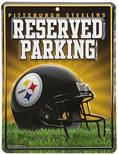 Unbekannt NFL Abonnements Metall Parken Schild, Pittsburgh Steelers, S
