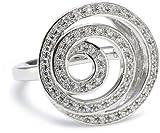 Merii Damen-Ring 925 Sterlingsilber rhodiniert Zirkonia weiß Gr. 52 (16.6) M0585R/90/03/52