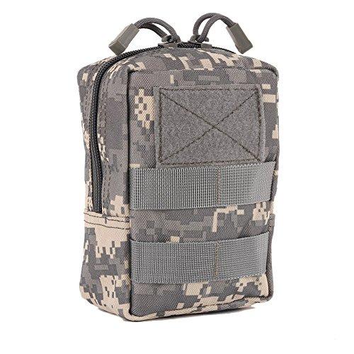 Doubleer 1000D Militaire Extérieure Tactique Sac de Taille Multifonctionnel EDC Molle Outil Zipper Taille Pack Accessoire Durable Étui De Ceinture