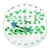 Hnourishy Outdoor Sport Menschlicher Klopfer Aufblasbare Stoßstange Blase Fußball Zorb Ball Für Erwachsene Kollisionsschutzanzug Laufsport Familienspiel - Grün
