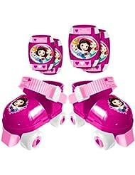 Stamp j100038Set de 4ruedas + rodillera y codera niña, rosa