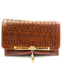 Lavish Hand Work Design Luxury Look Soft Lether Clutch Purs To Carry Your Mobile And Hand Purs Items Etc. (Brown...