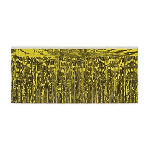Gardinendekoration, 2-lagig, metallisch, 3 m, goldfarben, 6 Stück