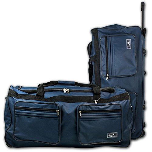 XXL Reisetasche - Trolley - Koffer - Tasche - Trolleytasche Miami mit Farbauswahl (blau)