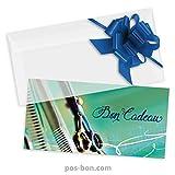 50 Bons cadeaux universels + 50 enveloppes + 50 noeuds rubans pour coiffeurs K9286F...