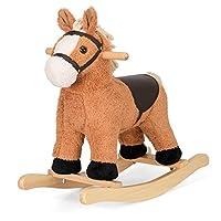 Fluffy Rocking Horse Childrens Plush Animal Rocker Riding Toy