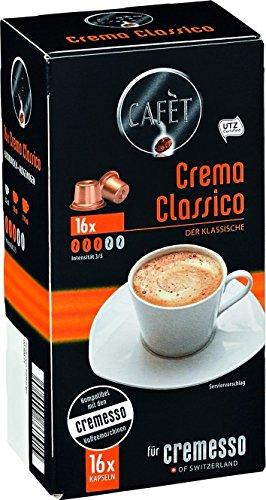 Cafèt Crema Classico 80 Kapseln - für Cremesso / Delizio Kaffeemaschinen