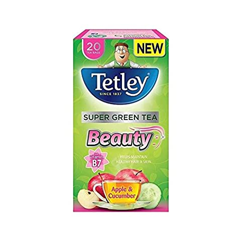 Tetley SuperGreen Beauty Apple & Cucumber Tea Bags 20 per pack
