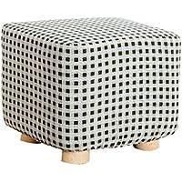 Fabric wooden stool Hölzerne Quadratische Fußbänke Ottomane und Puffs ändern Schuhe Hocker Tritthocker Sofa Hocker Stoff Bank mit 4 Holzbeine im Wohnzimmer Schlafzimmer 25CMX25CMX20CM preisvergleich bei kinderzimmerdekopreise.eu