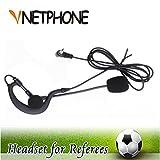 VNETPHONE® Fußball-Schiedsrichter-Kopfhörer 3,5 mm Arbeitet Ohrbügel Mono Ohrhörer mit V6 V4 FBIM Bluetooth Intercom