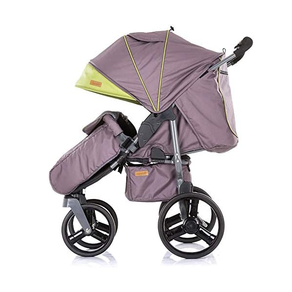 Chipolino Twix Pushchair Brown Chipolino Twin pushchair folds easily with automatic locking From birth, sun canopy with window and pockets Backrest can be adjusted to 5 different sitting and lying positions independently of each other 3