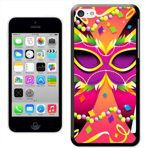Fancy A Snuggle 'It 's Karneval Mayhem Zeit–Perlen, Maske und Farben' Hard Case Clip On Back Cover für Apple iPhone 5C