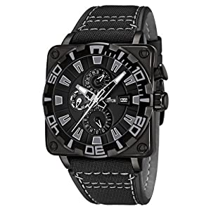 Reloj analógico Lotus 15792/4 de cuarzo para hombre, correa de cuero color negro