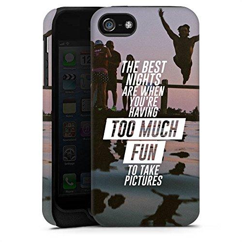 Apple iPhone X Silikon Hülle Case Schutzhülle Sprüche Spaß Feiern Tough Case matt