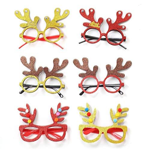 Dasongff Weihnachten Brille Weihnachtsbaum Rentier Spaßbrille Partybrille Weihnachtsdeko Weihnachten Geschenk für Kinder Erwachsene (Für Erwachsene Rentier Kostüm Hoodie)